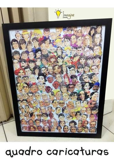 Quadro Caricaturas - Cantores Brasileiros