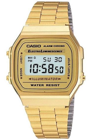 Relógio Casio Vintage - A168wg-9wdf - Golden - Chronograph