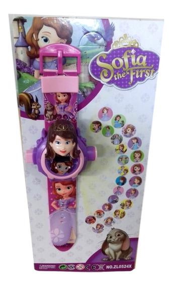 Relógio Infantil Princesa Sofia Projetor Imagem
