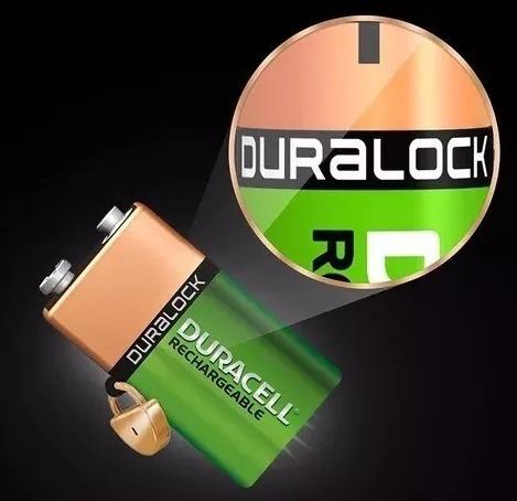 Kit 5 Bateria Duracell 9v Recarregavel