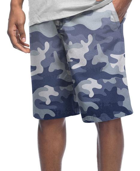 Bermuda Shorts Estampado Poliéster Camo Camuflado Militar #8