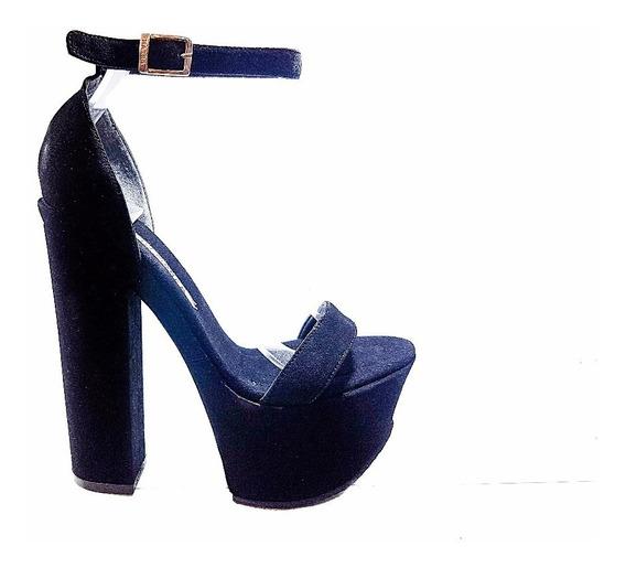 Calzados Stilettos De Mujer Luciano Marra Sandalias Gamuza
