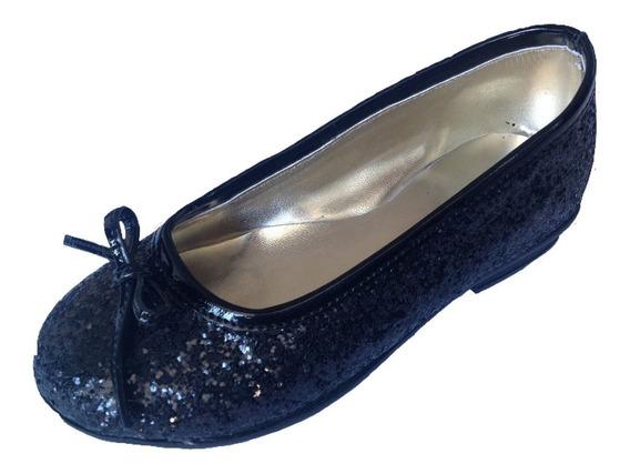 Chatitas Balerinas De Niñas Glitter Promoción Otoño/invierno