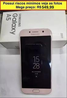 Samsung Galaxy Duos A 5 2017 Minimos Riscos 32 Gb Rosa
