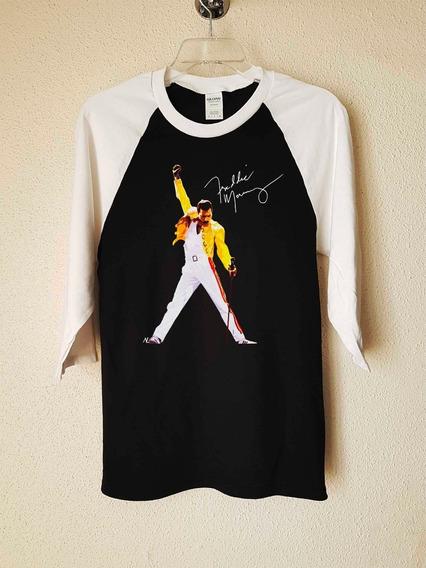 Queen Freddie Mercury Sig. Pose Polera 3/4 Rock Abominatron
