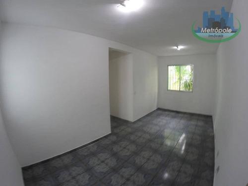 Apartamento Para Alugar, 68 M² Por R$ 1.300,00/mês - Vila Nossa Senhora De Fátima - Guarulhos/sp - Ap1092