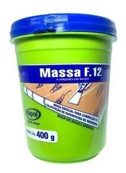 Imagem 1 de 2 de Massa Calafetar F12 Reparar Madeira Imbuia Viapol 400g