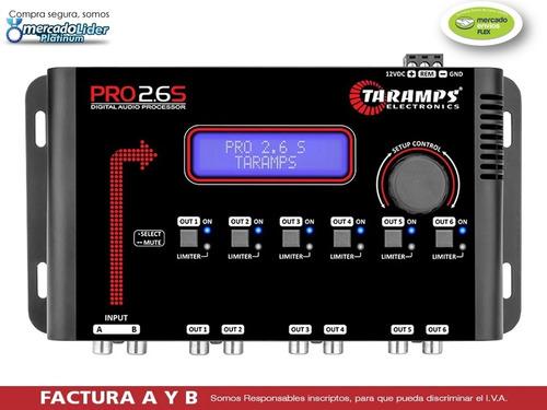 Crossover Ecualizador Procesador Digital Taramps 2.6 6 Vias