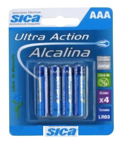 Pila Alcalina A A A Blister X 4 Unidades Sica