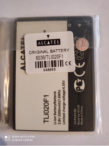 Bateria Alcatel Tetra 5044r 5044 5041c 5041 Pixi 4 Tli020f1