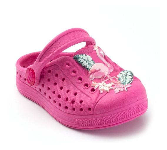 Babuche Plugt Joy Flamingo Infantil - Pink