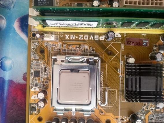 Placa Mãe 775+ 4g Ddr 2+ Pentium Dual Core