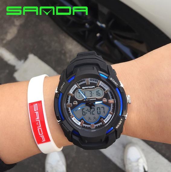 Relógio De Pulso Masculino Azul Original A Pronta Entrega