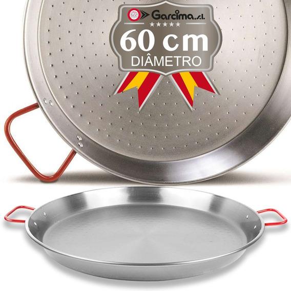Paellera Aço Polida De 60 Cm Para 19 Porções - Garcima
