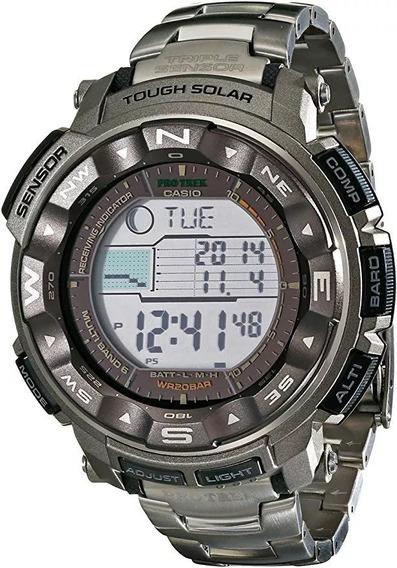 Relógio Casio Pro Trek Prw-2500t-7 Titânio Solar