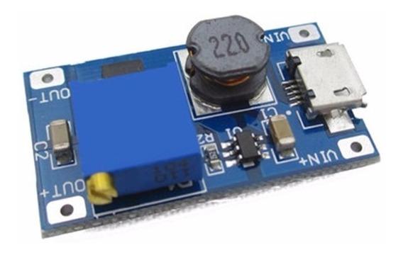 Conversor Dc-dc Step Up - Microusb Ajustável Lm2577