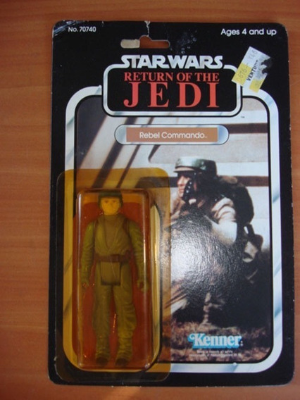 Muñeco Figura Star Wars Vintage Rebel Commando 1983