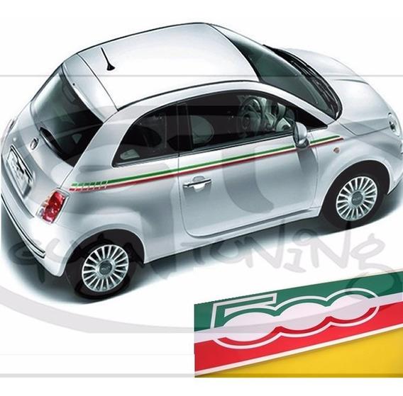 Faixa Fiat 500 Itália Material Importado Oracal Frete Gratis