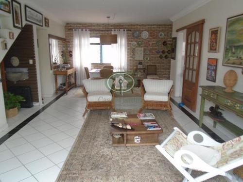 Imagem 1 de 30 de Magnifica Cobertura  3 Dormitórios (2 Suítes), 2 Garagens - Boqueirão, Santos. - Co0131