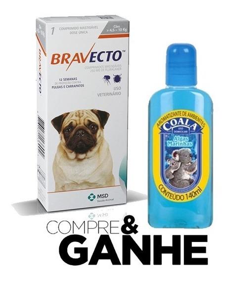 Bravecto Original 4,5 A 10 Kg + Aromatizante Coala 140ml
