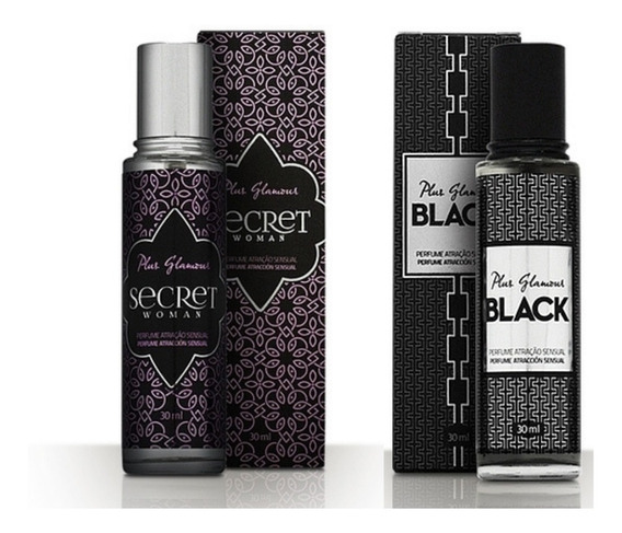 Kit Casal Perfume Feminino Woman + Masculino Black Glamour