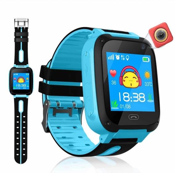 Relógio Infantil Rastreador Localizador C/câmera Pronta En