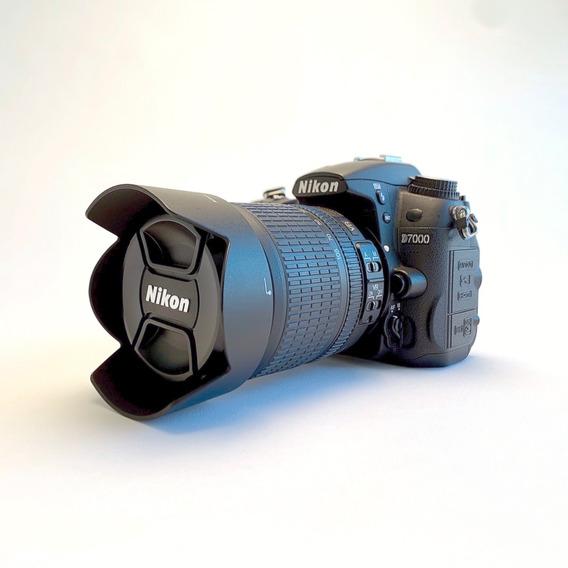 Câmera Dslr Nikon D7000 Com Lente 18-105mm Nikkor Vr Dx