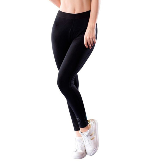 Calzas Frisadas Pack X 2 Termica Mujer Abrigada Negra Chupin