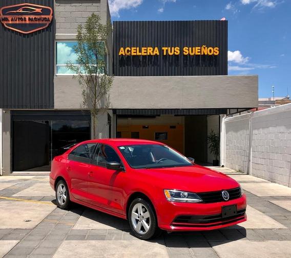 Jetta Mkvi 2.0 2018 Tiptronic Automatico Rojo Rin18 Credito