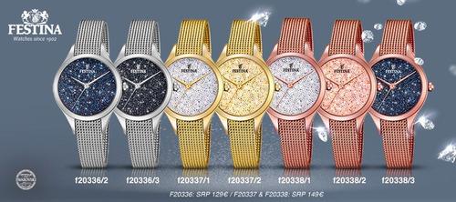 triste marca Tina  Reloj Festina Cristales Swarovski F20338.1 Mujer | Mercado Libre