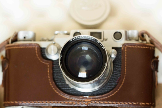 Leica Iiif + 03 Lentes Intactas + Visor + Manual + 02 Capas