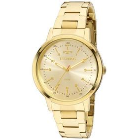 Relógio Technos Dourado Feminino Elegance Dress Luxo Moda