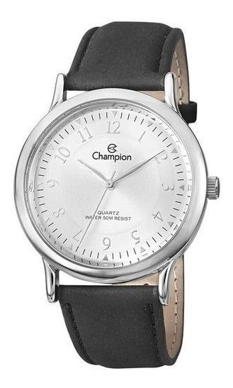 Relógio Champion Masculino Ref: Ch22813q Casual Prateado