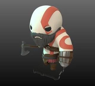 Muñeco, Figura De Acción Kratos Chibi, God Of War 4 No Funko