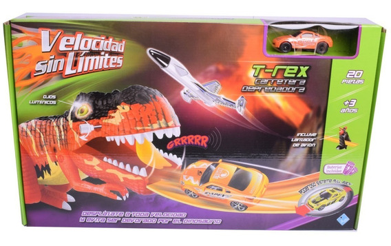 Pista De Autos Dinosaurio Tipo Hot Wheel Velocidad Sin Limit