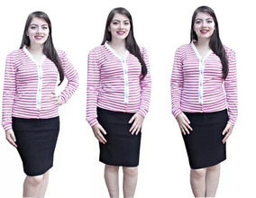 Casacos Moda Evangélico De Lã/ribana Roupas Femininas 1040