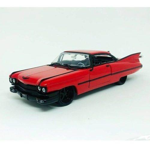 Miniatura Cadillac Coupe Deville 1959 Vermelho 1:24 Jada