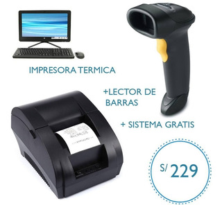 Impresora Térmica +lector De Código De Barras +sitema Gratis