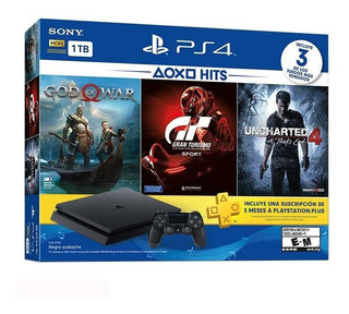 Playstation 4 Slim 1tb 3 Juegos Gow Uncharted 4 Y Gt6