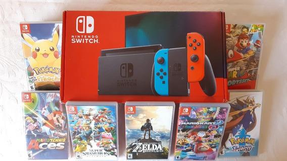 Nintendo Switch Modelo Novo 32gb - Sem Juros