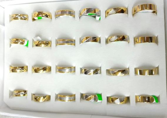 Caja De 24 Anillos De Acero Inoxidable