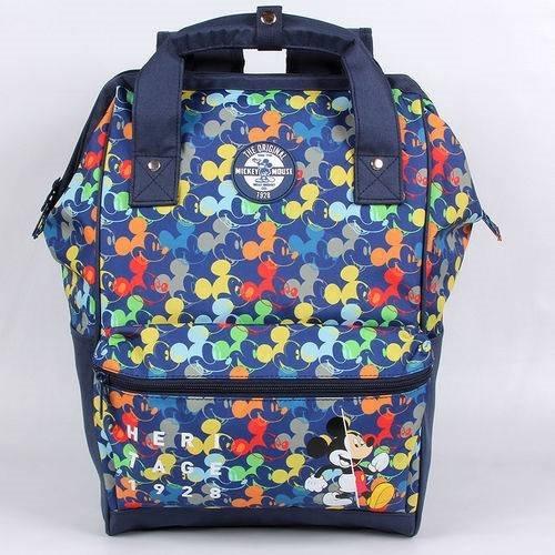 Mochila Escolar G Dermiwil Mickey Colors C/alça Azul Marinho