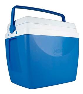 Caixa Térmica 34 Litros Cooler 50 Latas Com Alça Mor Azul