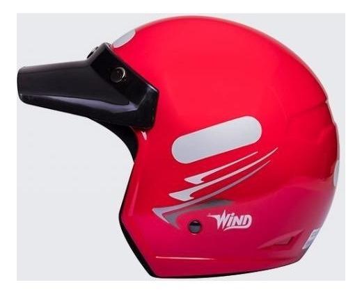 Capacete Aberto Taurus Wind Speedlines Vermelho 58 Peruzinho