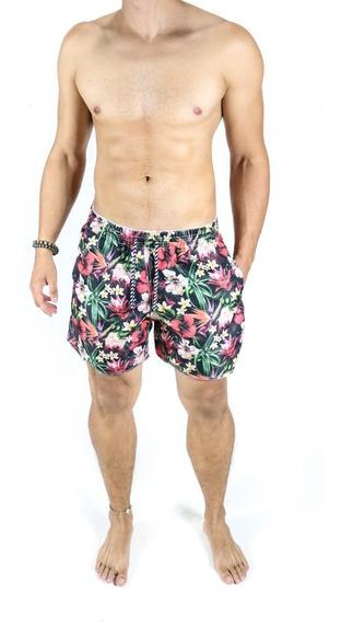 Short Masculino Praia Curto Colorido Estampado Moda Verão