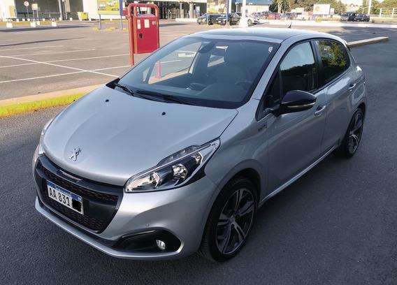 Peugeot 208 1.6 Gt Thp 2017 Gris Plata
