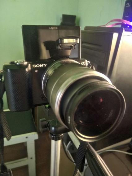 Sony Alpha A5000 C/ Lente 18-55mm 3.5 + Adaptador