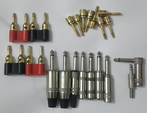 Conectores Banana Plug Y Plus 1/4 Jumbo Audio (3 Vrds)(unid)