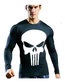 Camisa Térmica Herói Justiceiro Proteção Solar Uv