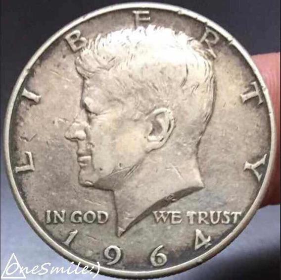 Onesmile:) Moneda Half Dollar 1964 Plata 900